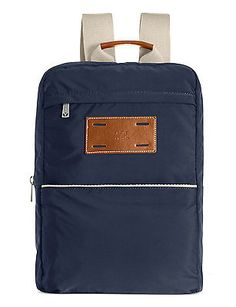 af1e2df12c J. FOLD Mens Montreal Nylon Backpack Navy Blue  95 Backpack Online