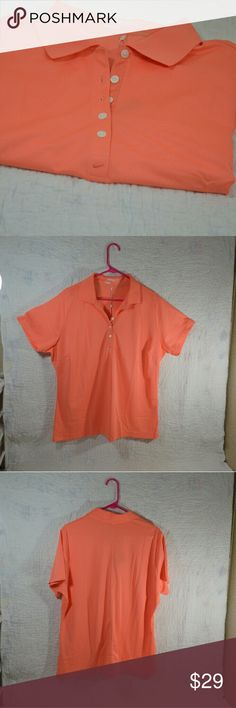 """NEW NIKE GULF TOUR PERFORMANCE DRI-FIT SHIRT This shirt is NWOT  This NikeGulf shirt is polo style and has 5 buttons.   Length 27.5""""  Armpit to Armpit   100% Polyester  Machine Wash Cold - Inside Out Nike Tops"""