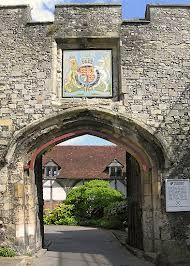 The Priory (or St Swithun's) Gate, Winchester Cathedral, Winchester, Hampshire, England