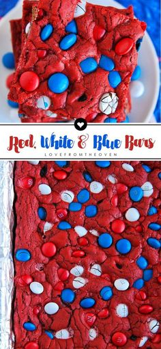 Red Velvet Cookie Bars Recipe For 4th Of July
