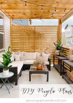 All the plans, materials, and info you need to make your own pergola and privacy wall! Beautiful DIY cedar pergola with wood slat privacy wall completes this outdoor patio space by adding privacy and shade! Diy Pergola, Cedar Pergola, Outdoor Pergola, Pergola Shade, Outdoor Spaces, Outdoor Living, Outdoor Decor, Modern Pergola, Privacy Wall Outdoor