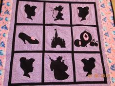 Princess  Silhouette Quilt by TootsisQuilts on Etsy, $75.00