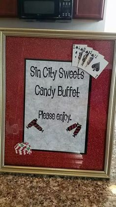 Rat Pack Party Vegas Candy Bar