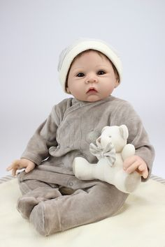 84.70$  Buy here - http://ali1s3.worldwells.pw/go.php?t=32606263269 - NPK 22 inch Silicone Reborn Babies Dolls Baby Reborn Realistic Hobbies Handmade Baby Alive Doll For Child The Best Lovely Gifts 84.70$