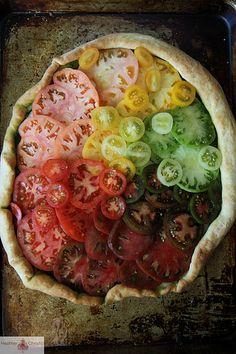 Heirloom Tomato Pizza | http://www.heatherchristo.com/ | #color #repetition
