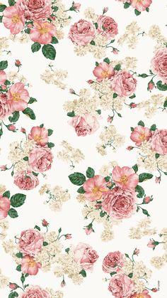 Flowers Vector Vintage Wallpaper