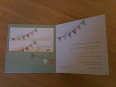 'Hang out the bunting' wedding invite