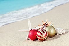 Personalized Business Holiday Greeting Cards - Warm Holiday Wishes Christmas Cards - Custom Printed Personalized Holiday Cards San Jose Del Cabo, Cabo San Lucas, Christmas Beach Photos, Coastal Christmas, Beach Holiday, Xmas Pics, Tropical Christmas, Christmas Balls, Christmas Holidays