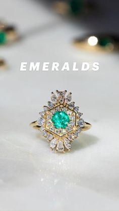 Wedding Nails, Wedding Rings, Right Hand Rings, Dream Wedding, Wedding Dreams, Bride Hairstyles, Antique Jewelry, Emerald, Sapphire