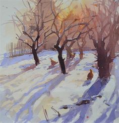 """""""Orchard in the snow"""" - Original Fine Art for Sale - � Haidee-Jo Summers"""