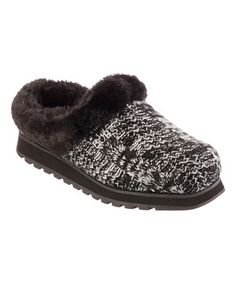0a500d2d9d7e BOBS from Skechers Black   White Keepsakes Knitwit Slipper