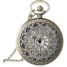 Hollow Out Vintage Quartz Pocket Watch ($5.57) ❤ liked on Polyvore featuring jewelry, watches, vintage watches, vintage wrist watch, pocket watches, vintage jewellery and quartz watches