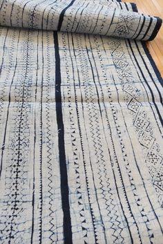 Handwoven Hmong Hemp Vintage Batik fabric by tribalcollection, $89.99