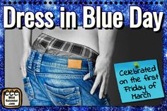 Dress in blue to raise awareness for the dangers of colorectal cancer Cheesecake Day, Dancing Day, Holiday Calendar, Cancer, Celebrities, Health, Blue, Dresses, Vestidos