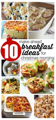 10 Make Ahead Breakfast Ideas for Christmas Morning. Who wants to be cooking when they could be watching children open presents?!?!