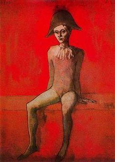 arlequín sentado - Pablo Picasso