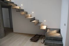 Floating Stairs Modern Ideas For 2019 Interior Stairs, Home Interior Design, Stairs To Heaven, Steel Stairs, Modern Stairs, Floating Stairs, Scale Design, House Stairs, Staircase Design