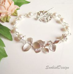 Christmas Sale Orchid Bracelet Orchid Jewelry by SnobishDesign, $31.50