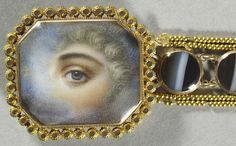 Bracelet with a miniature of an eye of an unknown lady