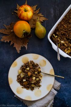 Crumble με Λωτό, Μήλο και Αχλάδι – Persimmon, Pear & Apple Crumble - The Healthy Cook