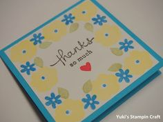 3x3 Thank You card using Endless Thanks stamp set, Stampin' Up!