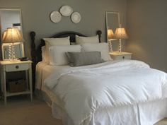 Our Suburban Cottage: Master Bedroom Reveal mirrors behind lights