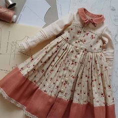 New sewing dolls for kids american girls Ideas - Babykleidung Frocks For Girls, Dresses Kids Girl, Moda Barbie, Toddler Outfits, Kids Outfits, Kids Frocks Design, Dress Anak, Baby Dress Design, Doll Dress Patterns