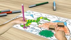 Multiprint Italia, leader in the area of the play-stamps, presents FANTASTAMPS, an augmented reality app that lets your kids bring their drawings to life! Color the characters in the book pages and then see them pop out of the page as 3D models on your tablet or smartphone.