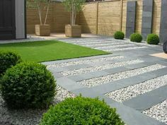 Front yard landscaping with pavers front yard modern landscaping with river stones as main element complete . Contemporary Garden Design, Modern Landscape Design, Landscape Plans, Modern Landscaping, Contemporary Landscape, Front Yard Landscaping, Garden Modern, Contemporary Style, Landscaping Design