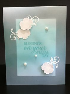 Created for my online card class, clear and sheer. I made a vellum card and color the vellum with 3 different colors.