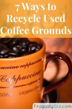 Frugality Gal: 7 Ways to Recycle Used Coffee Grounds I Love Coffee, Coffee Break, My Coffee, Morning Coffee, Coffee Cups, Morning Morning, Coffee Blog, Coffee Talk, Drink Coffee