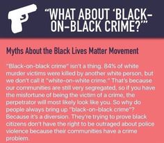 """What about 'black-on-black' crime?"" Myths about the Black Lives Matter Movement."