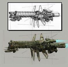 Spaceship Art, Spaceship Design, Spaceship Concept, Concept Ships, Concept Art, Sci Fi Rpg, Sci Fi Weapons, Battlefleet Gothic, Sci Fi Ships