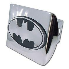 Oval DC Comics Licensed Batman Black Auto Grade ABS Plastic Hitch Cover