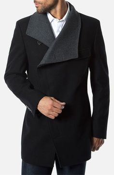 I have this coat from Zara.but this one is 7 Diamonds 'Venice' Asymmetrical Coat Der Gentleman, Gentleman Style, Sharp Dressed Man, Well Dressed Men, Mode Masculine, Nordstrom, Looks Style, My Style, Estilo Cool