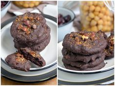 Flourless mocha bean cookies