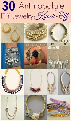 My Girlish Whims: 30 DIY Anthropologie Jewelry Project Knock-Offs