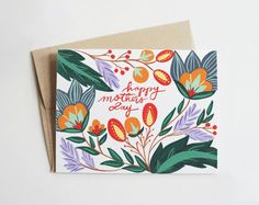 Floral Mother's Day Card by PenandPillar