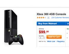 Walmart Black Friday Online Sale offers $99 Xbox 360 Doorbuster Xbox One Price, The Newest Xbox, Xbox One Console, Online Sales, Xbox 360, Black Friday, Walmart