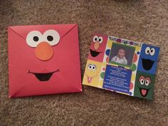 Elmo+envelope+with+Sesame+Street+invitation+by+TaneshasCreations,+$12.50