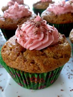 Vanilla Cupcakes with Raspberry Cream Frosting (GF and DF)