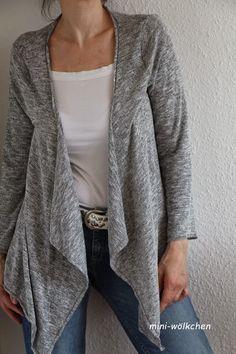Jacke aus Basic-Tunika