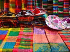 Objetos típicos de la artesanía mexicana Foto de archivo
