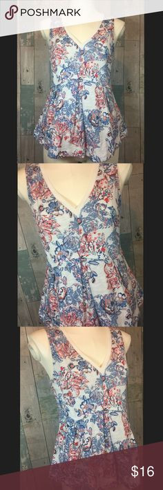 Deletta Amalia Peplum Tank Excellent condition!! From falls 23.5 inches in length and back slightly shorter at 22 inches. Chest measures 31 inches. Smoke free and pet free home!! Anthropologie Tops Tank Tops