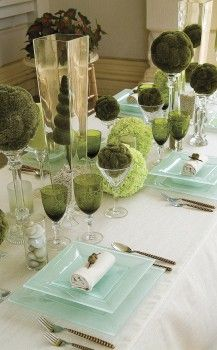 Love the soft hint with the aqua plates....