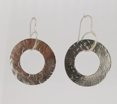 """""""Work or play"""" - these gorgeous sterling silver earrings feature a single donut drop (30mm diameter). Add them to your collection now for just $80(AUD) from mhoriginals.com.au ❤"""