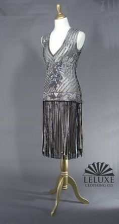 "The tango black silver ""The Artist"" dress.  Lovely."