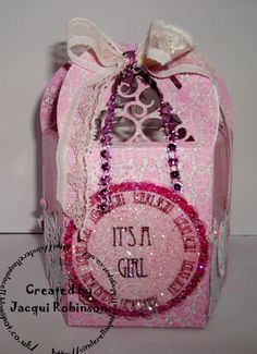 Dragons Lair Designs O Baby Mine Kit & Sentiment Tonic lantern box Tattered Lace elephant. Picture 1