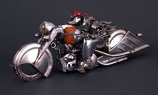 James Cobert, sculptor makes these from old car parts