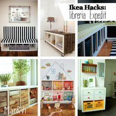 Ikea Hacks: idee per personalizzare la libreria Expedit www.marandvicreativestudio.com